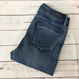 Seven7 High Rise Skinny Jeans, Size 12